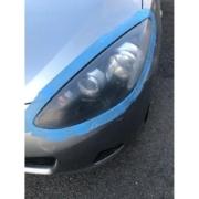 マツダデミオヘッドライトクリア塗装