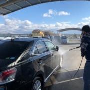レクサス車検後のサービス洗車
